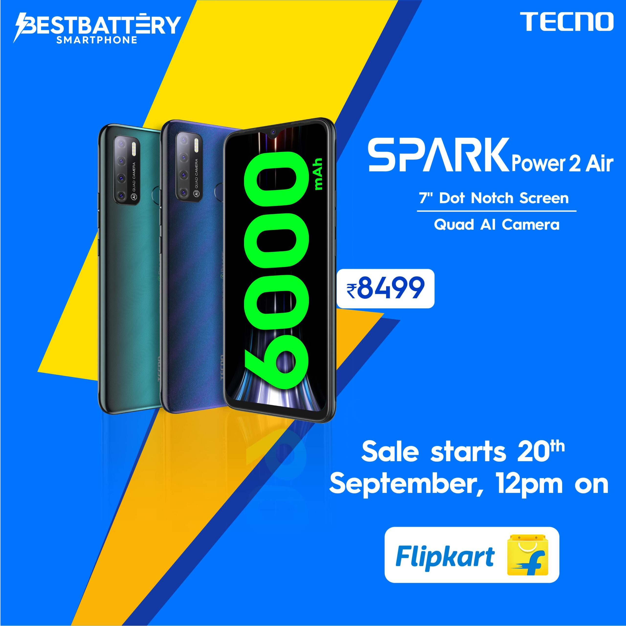 TECNO launches SPARK Power 2 Air: The new Power Play Entertainment device